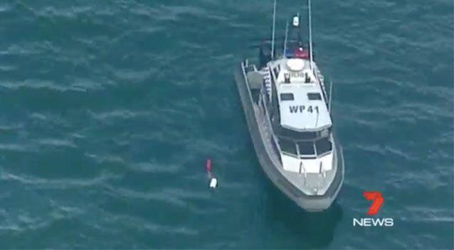 Rescue vessels attempt to locate the plane in the water. Source: 7News