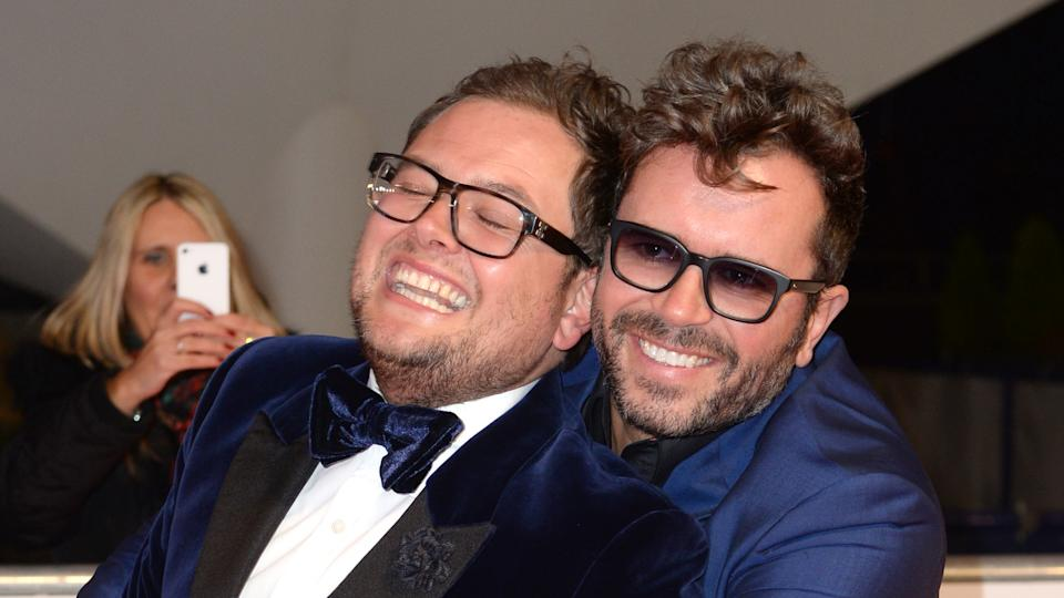 Alan Carr and Paul Drayton married in 2018. (PA)