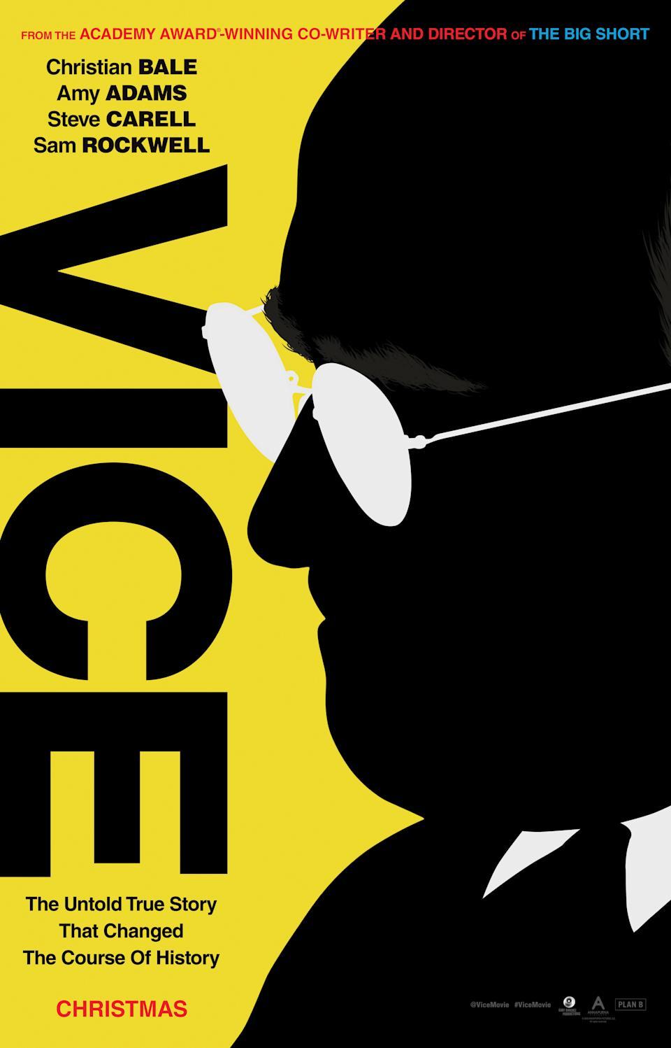 The just-released poster for <em>Vice</em>. (Photo: Annapurna Pictures)