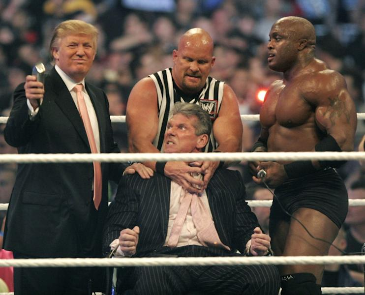 Donald Trump once shaved the head of an American wrestling bigwig during a televised event