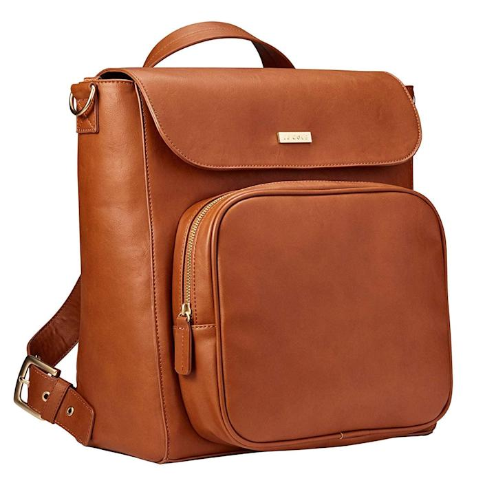 <p>The <span>JJ Cole Brookmont Diaper Bag</span> ($84) may look like an ordinary backpack, but it's anything but. It has 15 pockets, a zip front for bottles, and a removable liner so you can unzip it and toss it in the wash.</p>