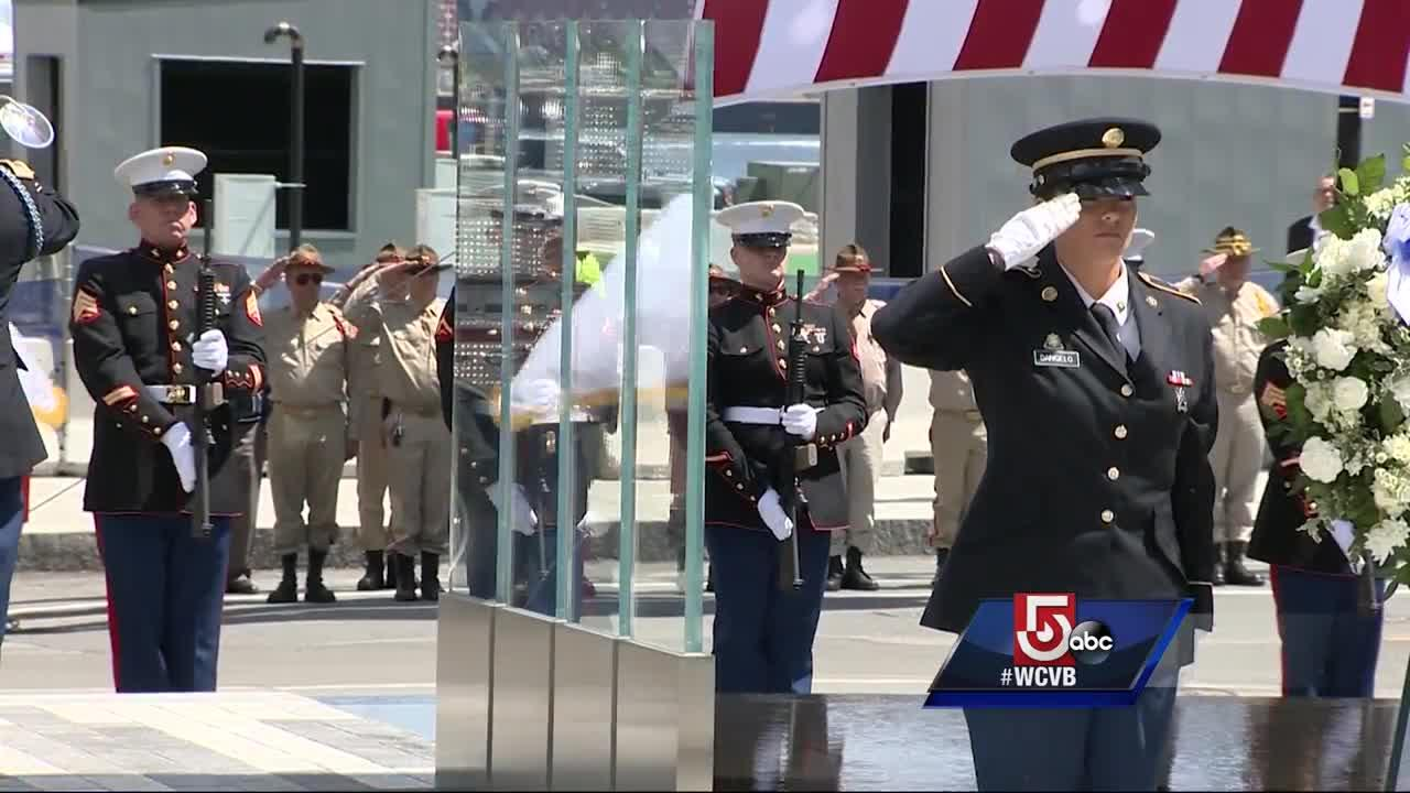 The Massachusetts Fallen Heroes Memorial honors members of the military with Massachusetts ties who were either killed in action or died while serving since the September 11 attacks.