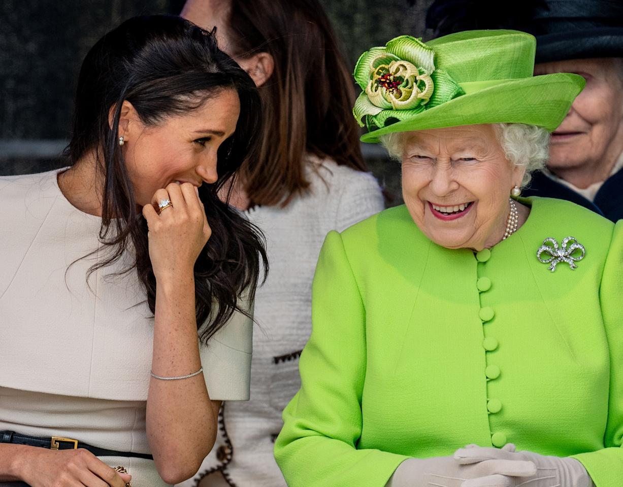 Meghan Markle and Queen Elizabeth have a cheery moment