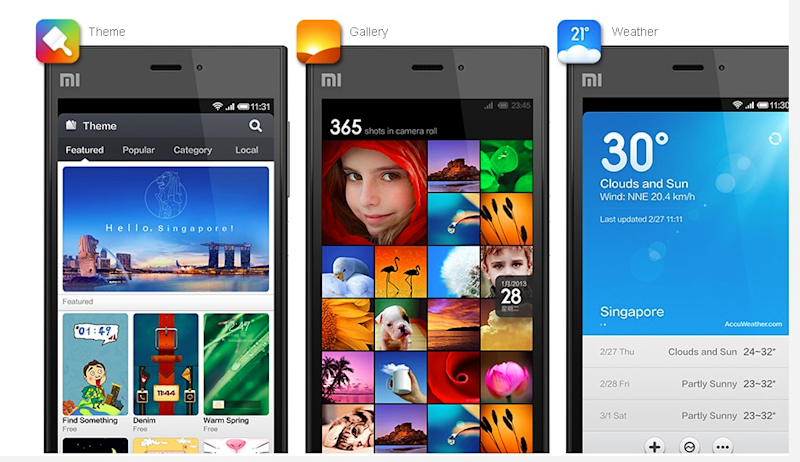 xiaomi photos marketing mi3 page