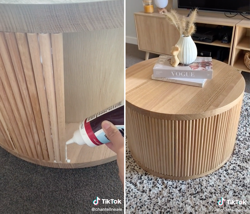 Before and after table hack.