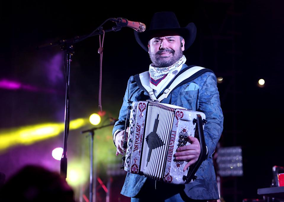 Ricardo Muñoz del grupo Intocable (Getty Images)