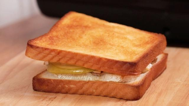 Grill until the sandwich is perfectly toasted