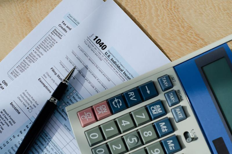 Tax time - Business and Financial concept