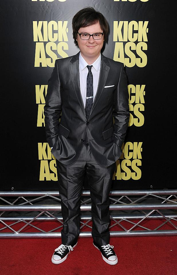 """<a href=""""http://movies.yahoo.com/movie/contributor/1804500481"""">Clark Duke</a> at the Los Angeles premiere of <a href=""""http://movies.yahoo.com/movie/1810063108/info"""">Kick-Ass</a> - 04/13/2010"""