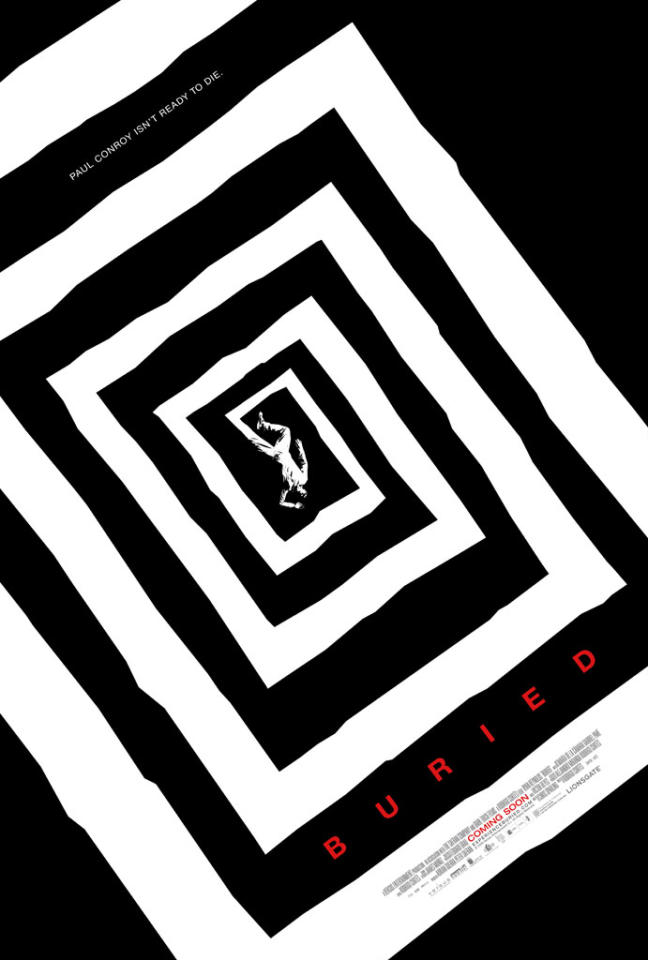 "The Best:  <a href=""http://movies.yahoo.com/movie/1810157966/info"">BURIED</a>    This bold, Vertigo-esque image is a nice tip of the hat to designer Saul Bass, invoking some of the best of Hitchcock's thrillers."