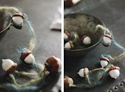 """<p>Forage for acorns early in the fall and take your time painting them and stringing them onto garland. Because the aesthetic is more seasonal than overtly Christmas-themed, the resulting product will look great on display from Thanksgiving through Christmas. </p><p><a href=""""https://themerrythought.com/diy/diy-simple-painted-acorn-garland/"""" rel=""""nofollow noopener"""" target=""""_blank"""" data-ylk=""""slk:Get the tutorial."""" class=""""link rapid-noclick-resp"""">Get the tutorial.</a></p><p><a class=""""link rapid-noclick-resp"""" href=""""https://www.amazon.com/Apple-Barrel-Acrylic-PROMOABI-Assorted/dp/B00ATJSD8I/?tag=syn-yahoo-20&ascsubtag=%5Bartid%7C10072.g.37499128%5Bsrc%7Cyahoo-us"""" rel=""""nofollow noopener"""" target=""""_blank"""" data-ylk=""""slk:SHOP PAINT"""">SHOP PAINT</a></p>"""