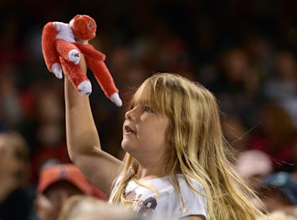 The Rally Monkey isn't as exhausted these days. (USA Today)
