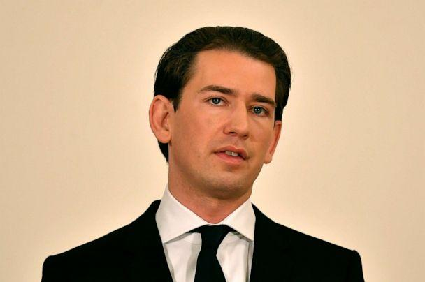 PHOTO: Austrian Chancellor Sebastian Kurz addresses a press conference at the Chancellery in Vienna, Nov. 3, 2020, one day after a shooting at multiple locations across central Vienna. (Joe Klamar/AFP via Getty Images)