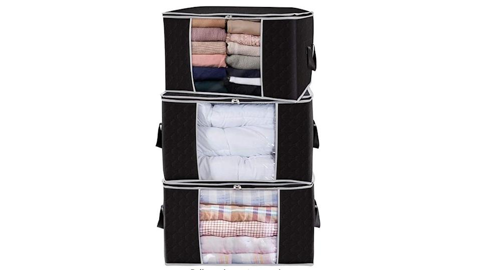 Buyers absolutely adored these clothing storage bags.