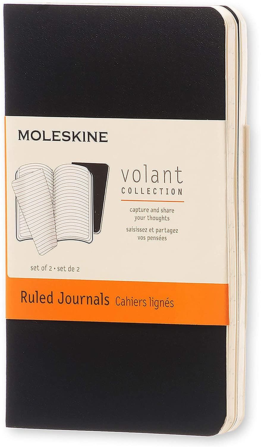 """<h3>Moleskine XS Volant Journal</h3><br>Two extra-small sized Moleskine journals that they can jot down all their BIG 2021 to-dos on.<br><br><strong>Moleskine</strong> XS Volant Journal (Set of 2), $, available at <a href=""""https://amzn.to/3obgYLi"""" rel=""""nofollow noopener"""" target=""""_blank"""" data-ylk=""""slk:Amazon"""" class=""""link rapid-noclick-resp"""">Amazon</a>"""