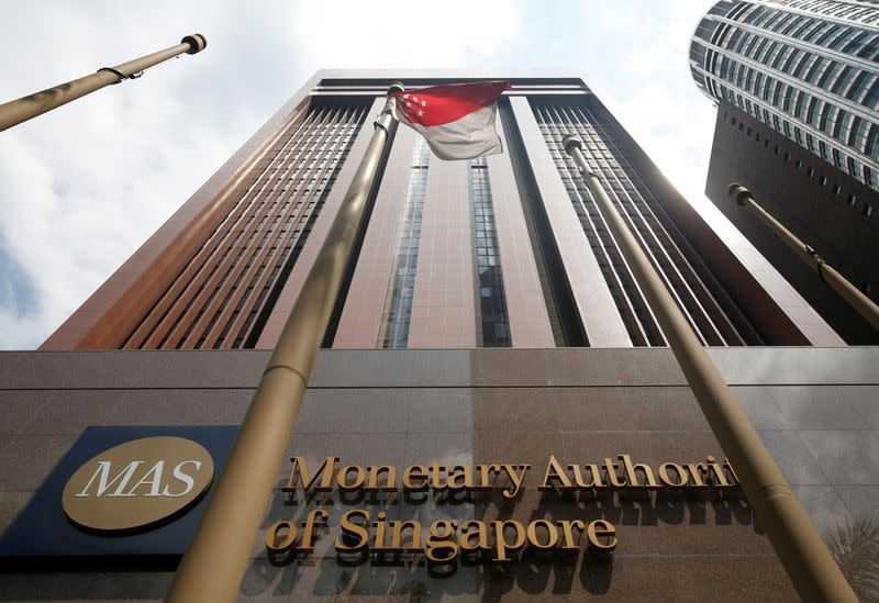 A view of the Monetary Authority of Singapore's headquarters in Singapore