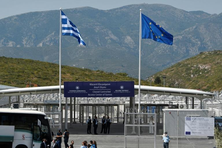 Asylum seekers will only be able to enter the new centre via fingerprint scans and electronic badges (AFP/LOUISA GOULIAMAKI)