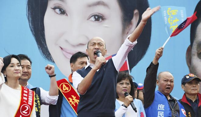 Han Kuo-yu is challenging the incumbent for the Taiwan presidency in the January 11 election. Photo: Kyodo