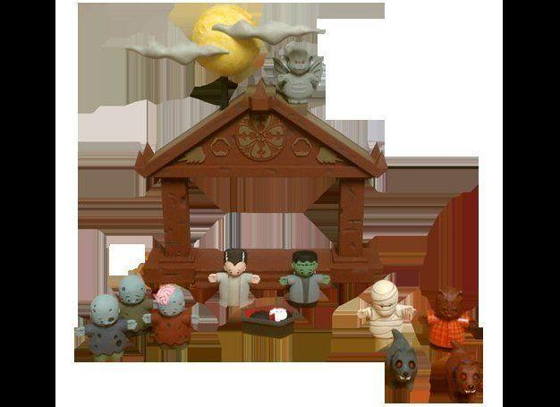 Because some Christians are anti-Halloween, Oestreicher wasn't sure about the intent of the people who made this nativity scene, but after discussions with the creators, decided it was not malicious, just fun.