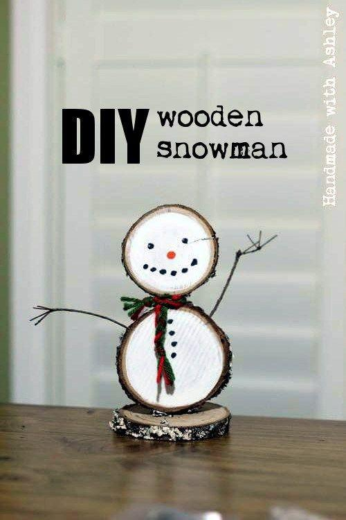 """<p>It's no secret that wood slices come in handy for all of your <a href=""""https://www.countryliving.com/diy-crafts/g23489557/winter-crafts/"""">winter crafts</a>. That much is true for this wooden snowman, which you can use anywhere in your house.</p><p><strong>Get the tutorial at <a href=""""http://www.ashleygrenon.com/2017/11/diy-wooden-snowman-half-hour-holiday-challenge/"""" target=""""_blank"""">Handmade with Ashley</a>.</strong></p><p><strong><a class=""""body-btn-link"""" href=""""https://www.amazon.com/Fuhaieec-50pcs-2-4-2-8-Unfinished/dp/B01MCW5KQ0/?tag=syn-yahoo-20&ascsubtag=%5Bartid%7C10050.g.22825300%5Bsrc%7Cyahoo-us"""" target=""""_blank"""">SHOP WOOD SLICES</a><br></strong></p>"""