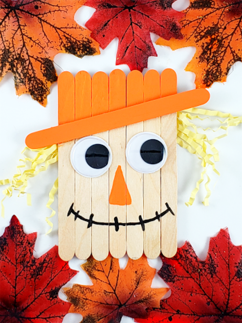 """<p>This scarecrow project is great to keep in mind for a rainy day, since you probably have all the materials you need for it lying around in your art drawer. And yet, he looks so cute when he's finished! </p><p><em><a href=""""https://simplemomproject.com/scarecrow-popsicle-stick-craft/"""" rel=""""nofollow noopener"""" target=""""_blank"""" data-ylk=""""slk:Get the tutorial at Simple Mom Project »"""" class=""""link rapid-noclick-resp"""">Get the tutorial at Simple Mom Project »</a></em></p>"""