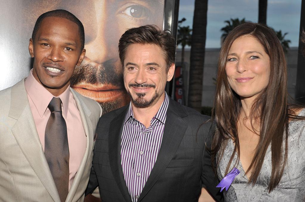 "<a href=""http://movies.yahoo.com/movie/contributor/1800020004"">Jamie Foxx</a>, <a href=""http://movies.yahoo.com/movie/contributor/1800010914"">Robert Downey Jr.</a> and <a href=""http://movies.yahoo.com/movie/contributor/1800012212"">Catherine Keener</a> at the Los Angeles premiere of <a href=""http://movies.yahoo.com/movie/1809986571/info"">The Soloist</a> - 04/20/2009"