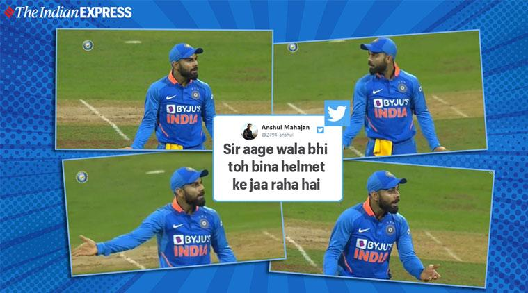india vs australia, virat kohli, ind v aus odi, virat kohli memes, virat surprised memes, india 10 wicket loss, viral news, sports news, cricket news, indian express