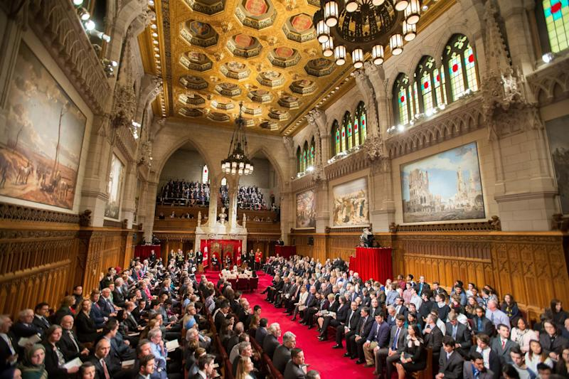 File photo of Speech from the Throne at the start of Canada's 42nd Parliament in Ottawa on Dec. 4, 2015. (Photo: GEOFF ROBINS via Getty Images)