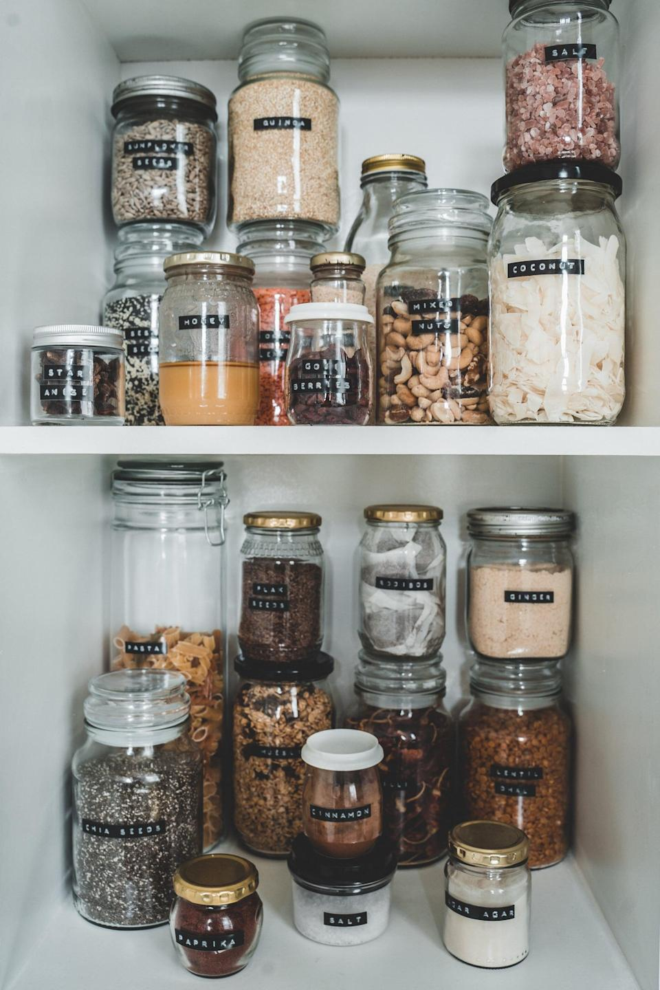 <p>Labeling is not only aesthetically pleasing, it also helps to maintain organization. When your containers, bins, and even shelves are labeled, you can easily find what you're looking for and put items back accordingly.</p>