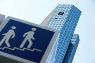 FILE PHOTO: Germany's Deutsche Bank headquarters are pictured in Frankfurt