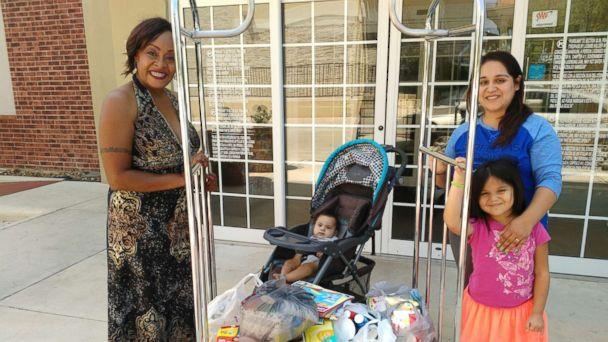 PHOTO: Bridget Martinez and her family are 'very grateful' for Kimberly Gager's donated supplies (Bridget Martinez)