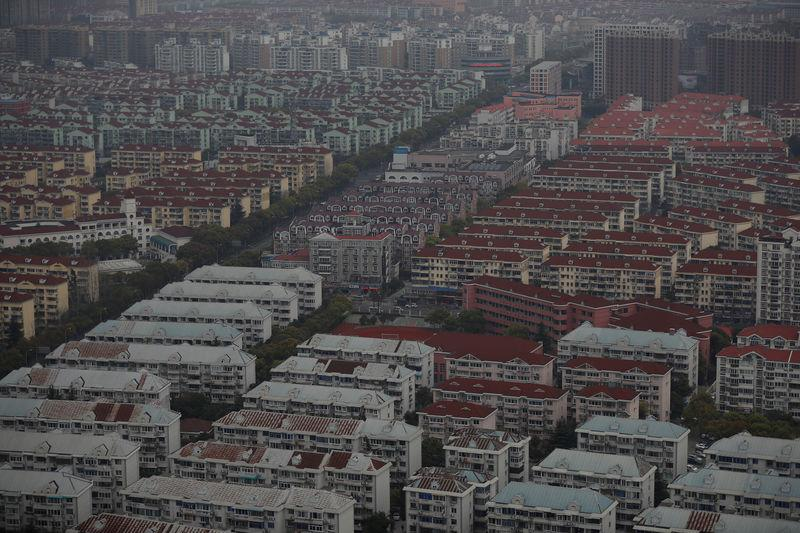 A general view shows a residential area of Pudong district in Shanghai