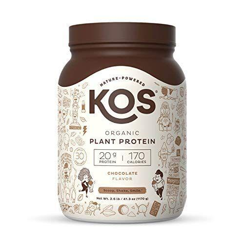 """<p><strong>KOS</strong></p><p>amazon.com</p><p><strong>$44.99</strong></p><p><a href=""""https://www.amazon.com/dp/B0767Z2Y25?tag=syn-yahoo-20&ascsubtag=%5Bartid%7C10055.g.35084321%5Bsrc%7Cyahoo-us"""" rel=""""nofollow noopener"""" target=""""_blank"""" data-ylk=""""slk:Shop Now"""" class=""""link rapid-noclick-resp"""">Shop Now</a></p><p>This organic plant-protein shake was <strong>one of the best-tasting in our tests and the chocolate flavor scored high points. </strong>We found it creamy and liked that it packs 20 grams of protein in one serving and only 2 grams of added sugar. This option features a protein blend of organic pea, flax seed, quinoa, pumpkin seed, and chia seed. Plus, it's also considered to be a complete multivitamin and has 40% of your daily Vitamin B12 needs, a tough-to-find nutrient for vegans. </p>"""