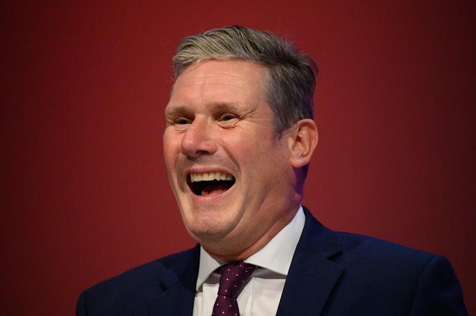 Sir Keir Starmer during a debate on day two of the Labour Party conference on September 26 in Brighton (Getty Images)