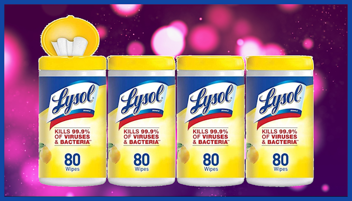 Now's your chance to stock up on Lysol Disinfecting Wipes. (Photo: Amazon)
