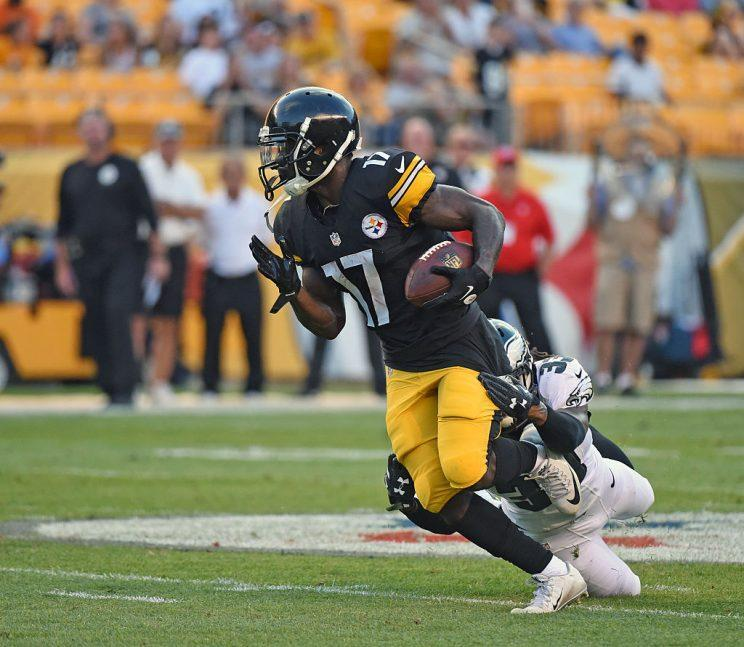 Eli Rogers is a slot receiver of interest, tied to a high-yield offense. (Getty Images)