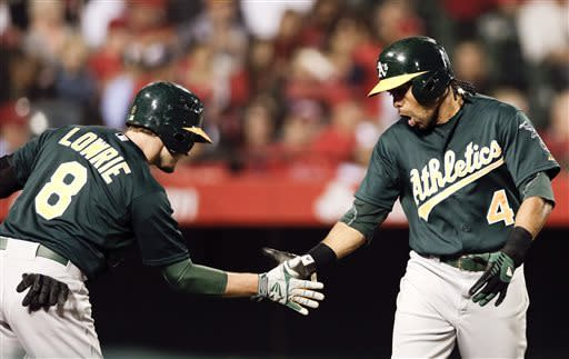 Jaso's pinch HR paces A's to 9-5 win over Angels