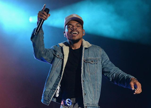 <p>Chance the Rapper performs onstage during the 2017 Firefly Music Festival on June 17, 2017 in Dover, Delaware. (Photo by Kevin Mazur/Getty Images for Firefly) </p>
