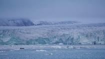 FILE PHOTO: A view across Yoldiabukta Bay towards Wahlenbergbreen glacier on Spitsbergen island in Norway
