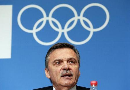 International Ice Hockey Federation (IIHF) President Rene Fasel answers a question during a news conference at the 2014 Sochi Winter Olympics, February 18, 2014. REUTERS/Jim Young