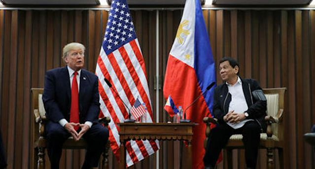 <p>Trump says has 'great relationship' with Duterte </p>