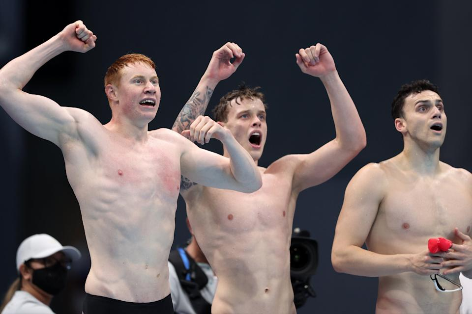 Team GB claimed a third swimming gold in Tokyo early on day five (Getty Images)