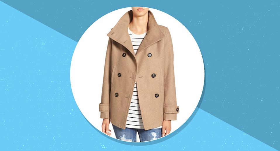 Get your mitts on this wildly popular peacoat before it sells out (again)! (Photo: Nordstrom)