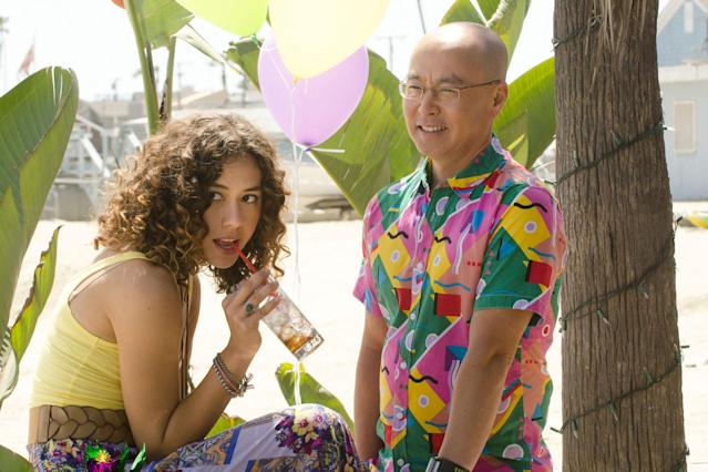 """Dora Madison Burge as Niki and C.S. Lee as Vince Masuka in the """"Dexter"""" Season 8 episode, """"A Little Reflection."""""""