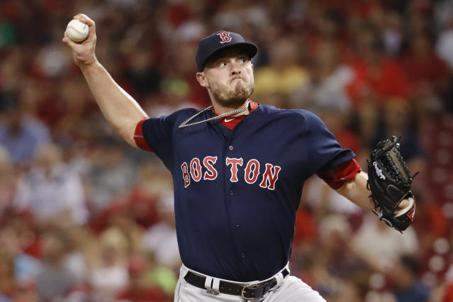 "Veteran reliever <a class=""link rapid-noclick-resp"" href=""/mlb/players/9053/"" data-ylk=""slk:Addison Reed"">Addison Reed</a> is headed to Minnesota. (AP)"