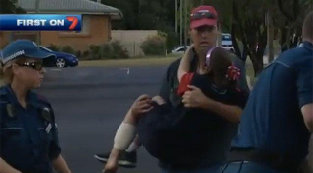 The girl was taken to hospital in a stable condition. Source: 7News