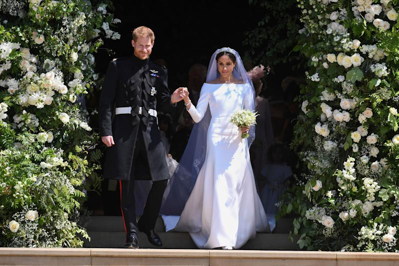 Prince Harry and Meghan Markle on their wedding day in May. (Photo: KGC-107/STAR MAX/IPx)