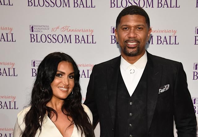 Jalen Rose defended his wife Molly Qerim following an inappropriate comment LaVar Ball made to Qerim while live on the air. (Photo by Dimitrios Kambouris/Getty Images for Endometriosis Foundation of America )