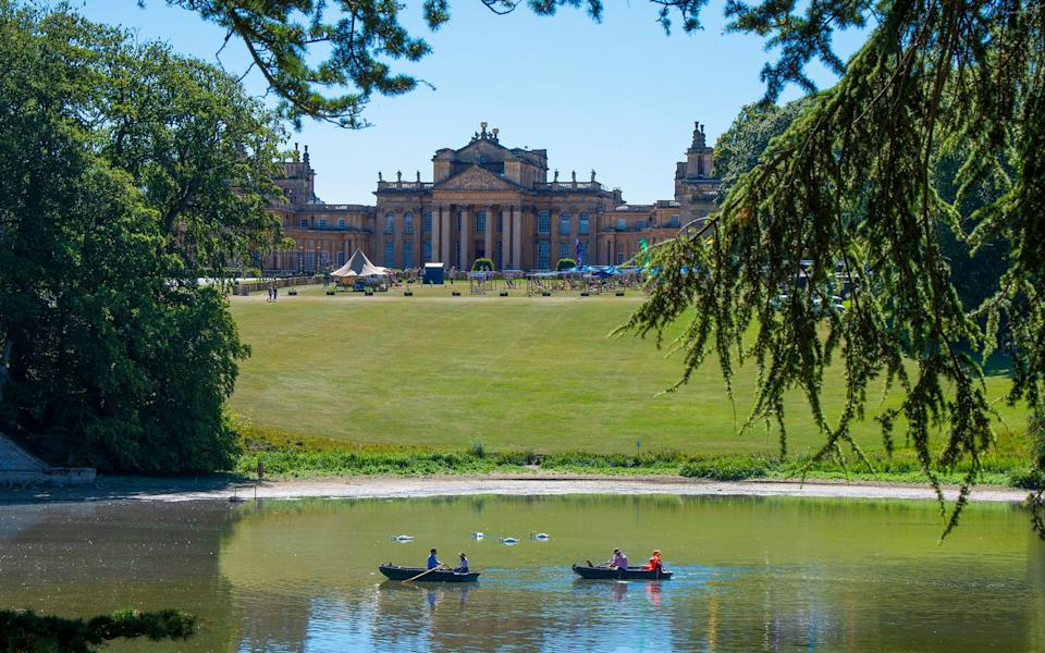 Visitors to Blenheim Palace can now enjoy its spectacular views from the comfort of a rowing boat - BNPS