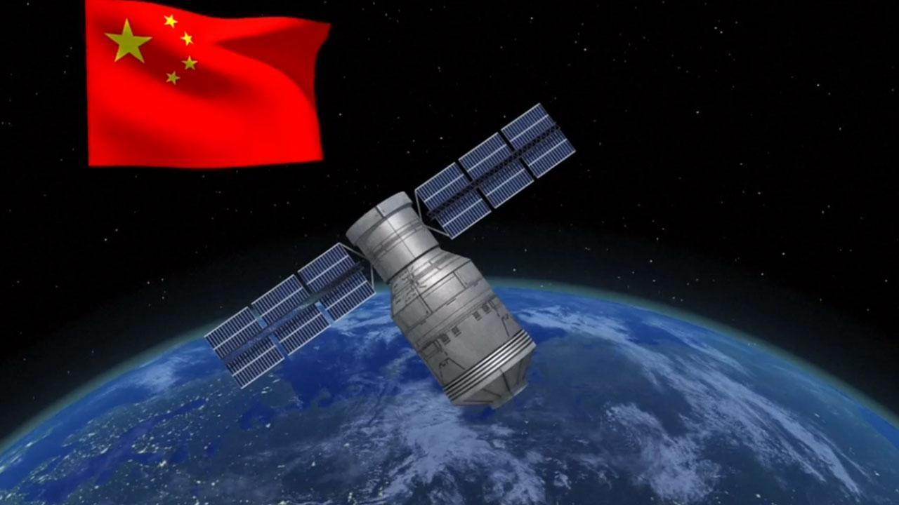 china space station falling to earth - 1280×720